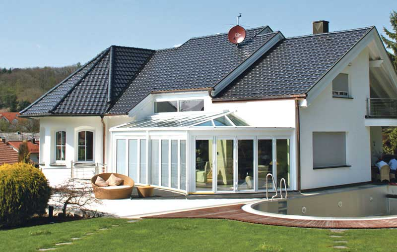 wintergarten mit sonnenschutz in gro bottwar. Black Bedroom Furniture Sets. Home Design Ideas